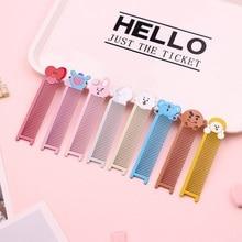 цена на Kpop Bangtan Boy Bts Metal Comb Mini Comb Bt21 Hairdressing Tool For Women Doll Style Girl Gift Jewelry Bangtan boys Accessories