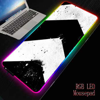 MRGBEST White  Black Anime Mouse Pad Gamer Large Locking Edge Soft Durable Gaming Mousepad Non-slip Rubber Computer Desk Mat mrgbest beautiful anime fantasy forest non slip and durable rubber computer lockedge mat cartoon printing large game mouse pad
