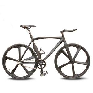 Велосипед с фиксированной передачей, пять ножей, алюминиевый сплав с привлекательным разноцветным DIY студентом для взрослых мужчин и женщи...