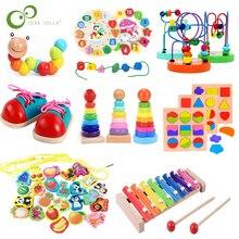 Montesorii juguetes educativos de madera para niños Juego de matemáticas Aprendizaje Temprano bebé cumpleaños Navidad Año Nuevo juguetes para niños regalo ZXH