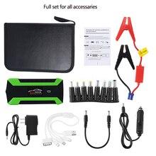 Многофункциональное пусковое устройство 89800 мА/ч, 12V 4USB 600A портативный автомобильный аккумулятор Зарядное устройство аварийный Запуск Мощность инструмент для банка комплект