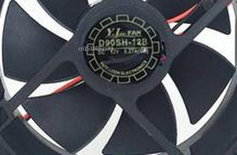 For Yate Loon D90sh-12b 12v 0.27a 2600rpm 92x92x15mm 2 Line Refrigerator Fan Free Shipping