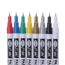 """Маркеры цвета """"металлик"""" 0,7 мм нетоксичные краски маркер графический Рисунок Перманентный маркер быстро сохнет DIY Искусство Маркер краски ручка 8 цветов"""