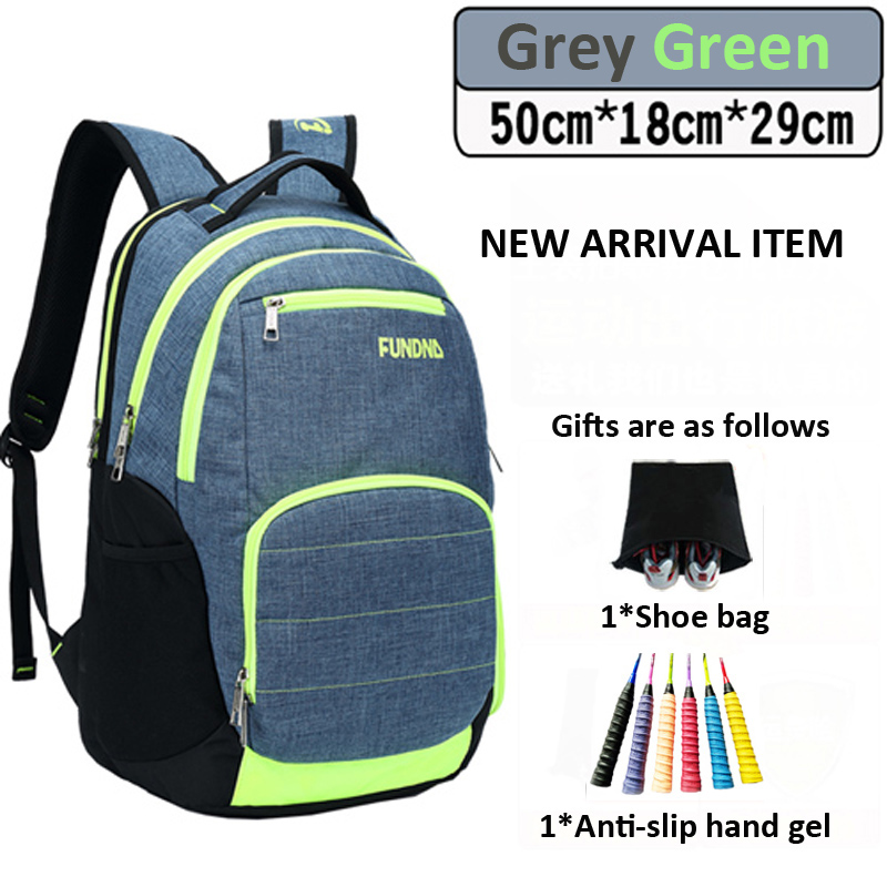 Wear-resistant Oxford Fabric Badminton Tennis Rackets Backpack Breathable Storage Squash Bag Tenis Rackets Touring Backpack Bags