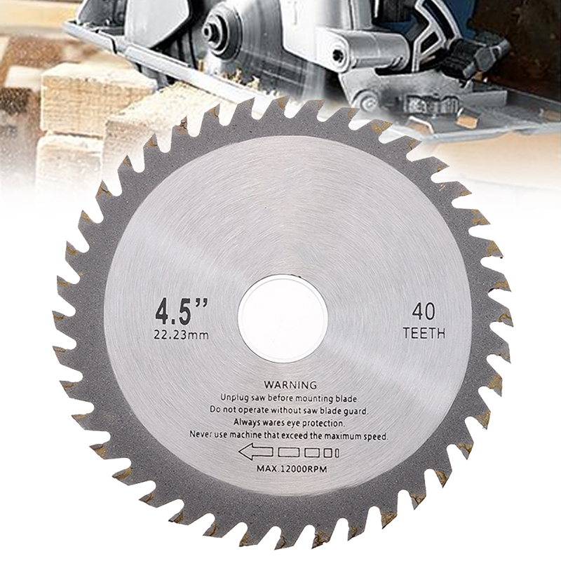 1Pc Alloy Mill Chain Wheel Circular Saw Blade 40 Teeth 4.5 Inch 115mm For Angle Grinder Wood Carving Cutting Disc Power Tools