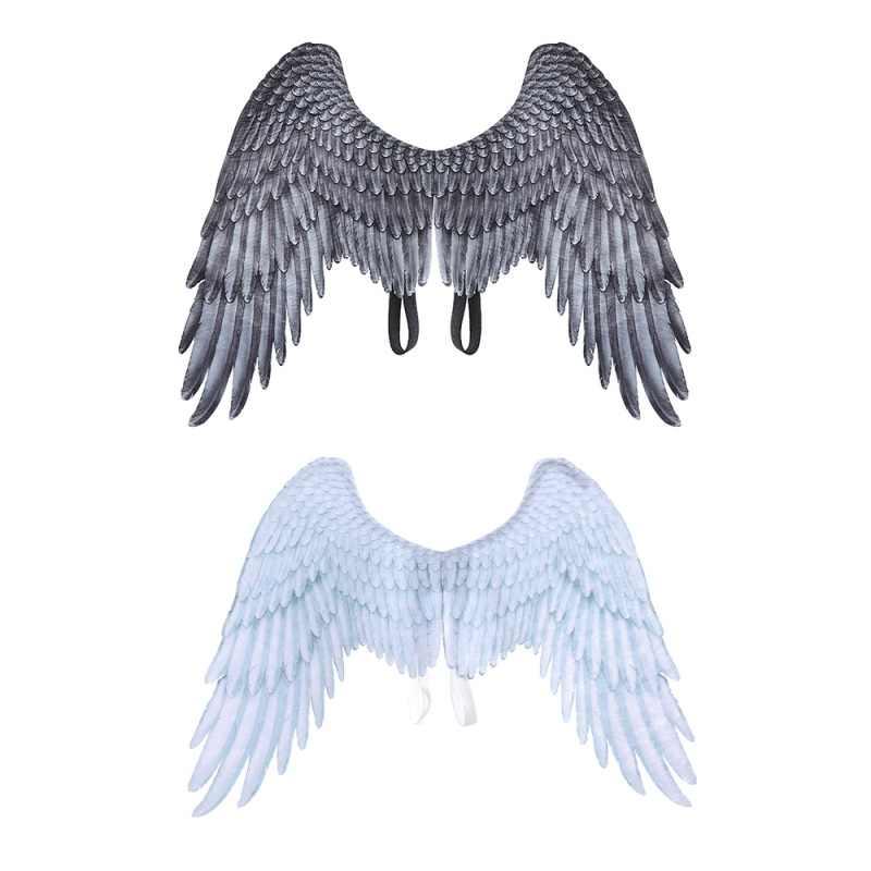Украшение на Хэллоуин нетканый материал 3D Крылья Ангела тематическая вечеринка