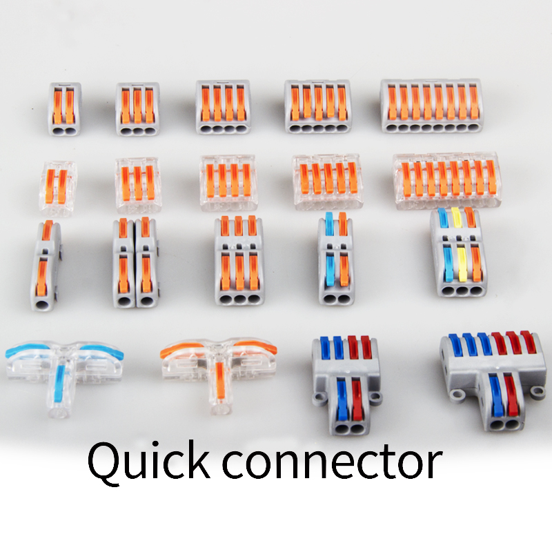 CABL CONNECTOR Mini Fast Wire Cable Connectors Universal Compact Conductor Spring Splicing Wiring Connector Push-in Terminal
