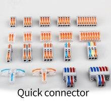 Conector de cabl mini conectores de cabo de fio rápido universal condutor compacto mola de emenda conector de fiação push-in terminal