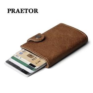 Rfid держатель для карт, мужские кошельки, сумка для денег, кошелек, короткий, мужской кошелек, маленький бренд, роскошный, тройной, кожаный кош...