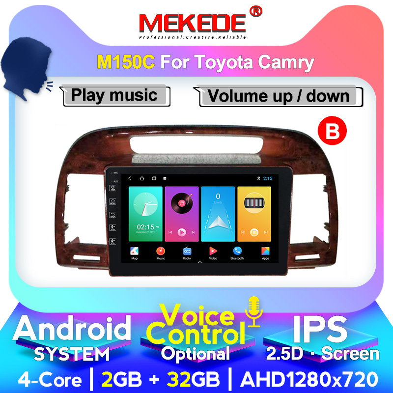 MEKEDE Android System 4+64G IPS DSP For Toyota Camry 5 XV 30 2001-2006 Car Radio Multimedia Video Player Navigation GPS 2din