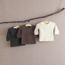 T-Shirts Tops Long-Sleeve Baby-Boy-Girls Autumn Cotton Winter Solid 0-To-24m Pullover