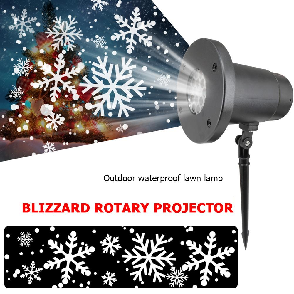 Snowflake Projector Light Super Bright Waterproof Lawn Snowflake Remote Control Outdoor LED Lamp For Christmas Halloween