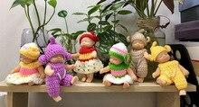 2019 NEUE Nette Schlafen Baby Puppe Schlüsselanhänger Für Frauen Tasche Spielzeug Schlüssel Ring Flauschigen Pom pom Faux Pelz Plüsch Schlüsselanhänger