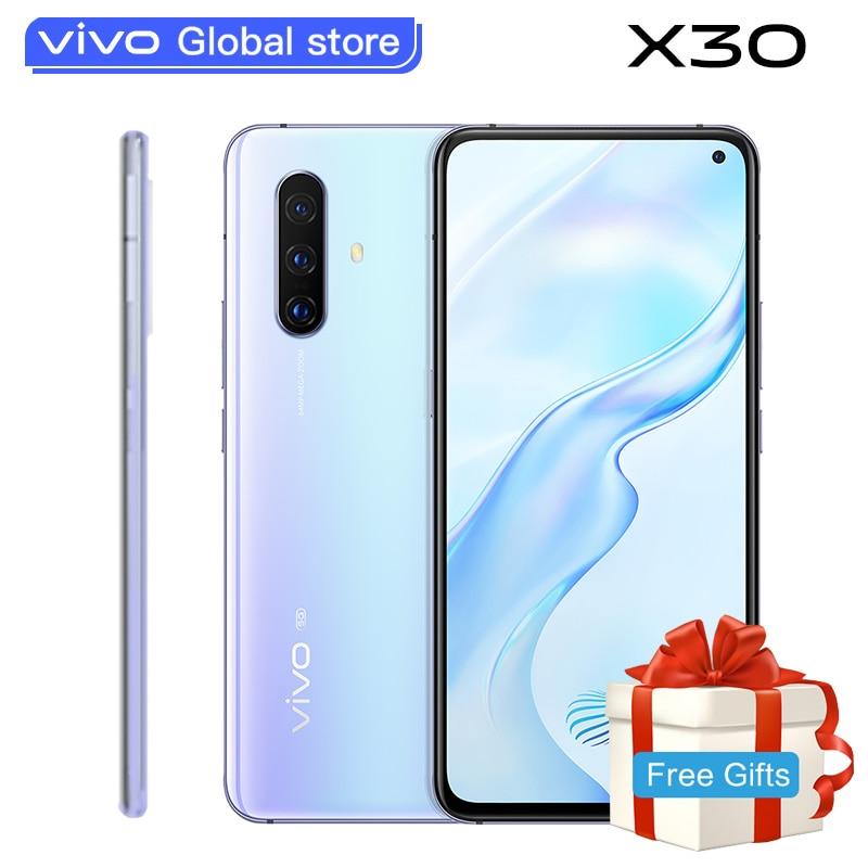 Original Vivo X30 5G Smartphone 8GB 256GB Exynos 980 Celular 4350mAh 33W Fast Charging 32.0MP+64.0MP Camera Android Cell Phones