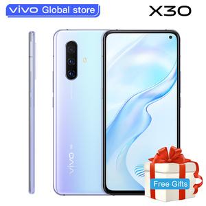 Оригинальный vivo X30 5G смартфон 8 Гб 256 Exynos 980 Celular 4350 мА/ч, 33 Вт быстрой зарядки 32.0MP + 64.0MP Камера Android Сотовые телефоны