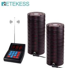 Retekess SU 668レストランとページャ20ページャ受信機最大999ブザーレストランコーヒーショップクリニックワイヤレス通話システム