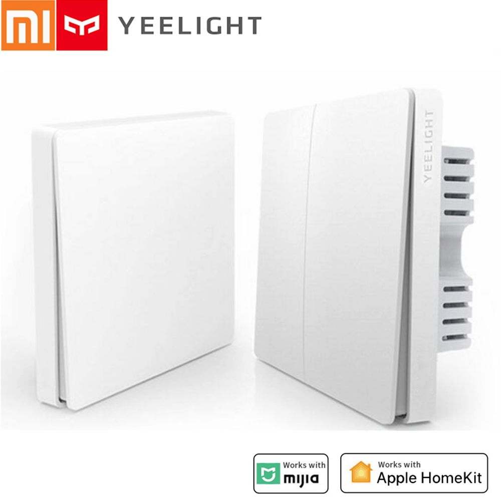 Yeelight Wireless Smart Switch Light Remote Control Single Double Button YLKG12YL YLKG13YL For Mi Home Mijia Smart Panel Lights
