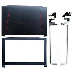 Novo portátil lcd capa traseira/lcd moldura dianteira/dobradiças para acer predator nitro 5 AN515-42 AN515-41 AN515-51 AN515-53 ap211000700