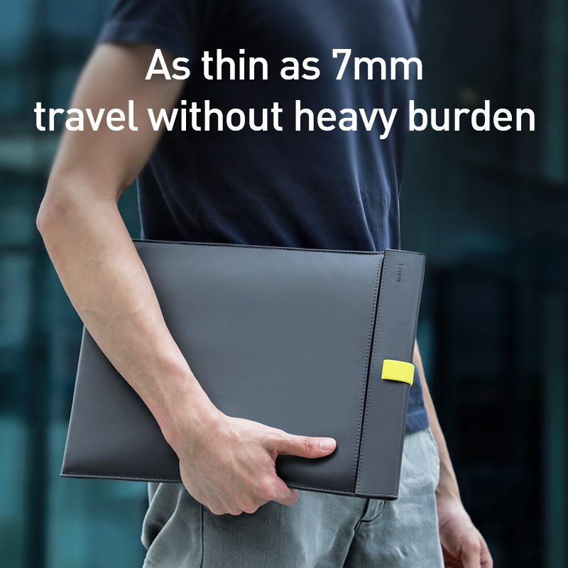 Image 5 - Baseus Laptop Bag Case For Macbook Air Pro 13 14 15 16 Inch Mac Book PU Leather Sleeve Cover For Notebook Computer Coque FundasLaptop Bags & Cases   -