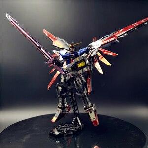 Image 3 - MMZ รุ่น 3D โลหะหุ่นยนต์ DESTINY GUNDAM รุ่น DIY เลเซอร์ตัดประกอบจิ๊กซอว์ของเล่นเดสก์ท็อปตกแต่งของขวัญเด็ก