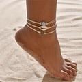 Браслеты для ног LETAPI для женщин и девушек, ювелирные украшения для отдыха на пляже, браслет на лодыжку без ног, богемный браслет на ногу