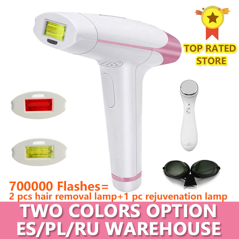 Lescolton Laser-Hair-Removal Pulsed-Device Depilador IPL Electric Permanent 700000 T-009