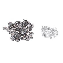 50 Sets Jeans Button 17mm Metal Versatile Instant Replacement Button with Rivets for Pants Overalls Jacket Jeans Buttons