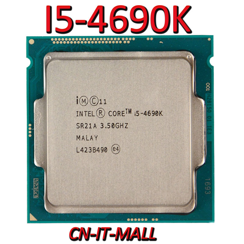 Pulled I5-4690K CPU 3.5G 6M 4 Core 4 Thread LGA1150 Processor