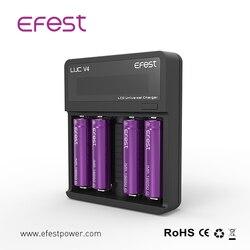 Efest LUC V4 battery charger 3.7V rechargeable 18650 18350 20700 21700 battery charger