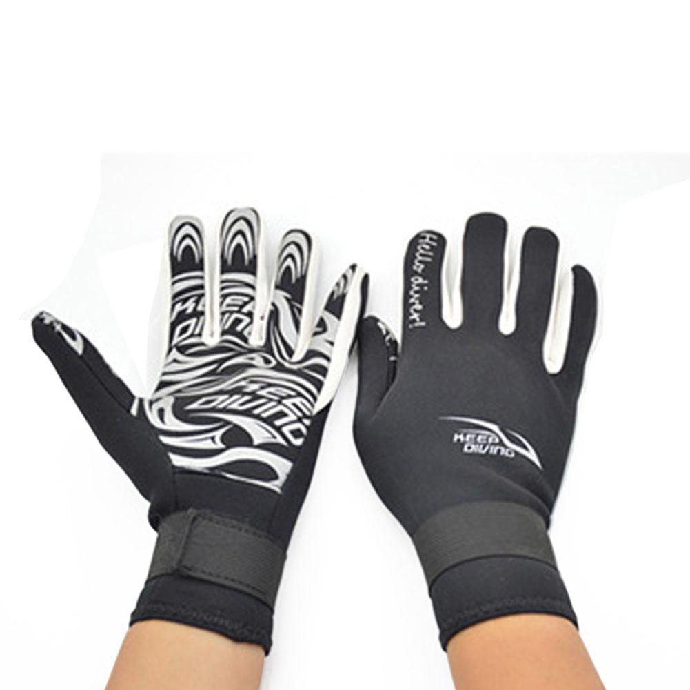 2MM Diving Gloves Adult Printing Swimming Snorkeling Gloves Neoprene Warm Non-Slip Underwater Swim Equipment