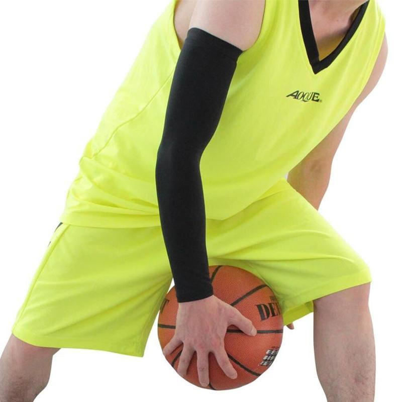 1pcs Breathable Quick Dry Arm Sleeves Outdoor Cycling Sun Uv Protection Arm Sleeve Sports Fitness Armguards Basketball Elbow Pad