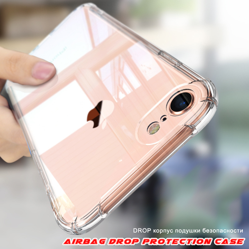 Soft Transparent <font><b>Case</b></font> Clear for <font><b>IPhone</b></font> 11 Pro Max X XR XS Max 8 7 <font><b>6</b></font> 6S Plus 5 8Plus <font><b>Bumper</b></font> TPU <font><b>Case</b></font> Shockproof Phone Cover Shell image