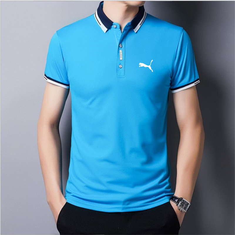 2021 summer selling casual Breathable polo shirt men short sleeve turn down collar slim fit sold color polo shirt for men plus