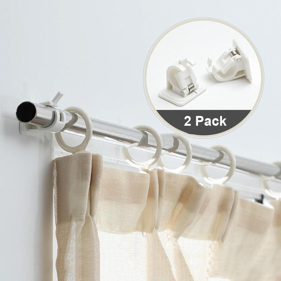 2x WHITE Self Adhesive Curtain Tie Back Hooks Holder Wall Sticky Draper Hanging