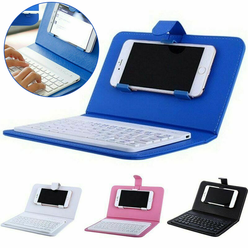 Mini Portable Wireless Bluetooth Keyboard With Leather Case For Smartphone DQ-Drop