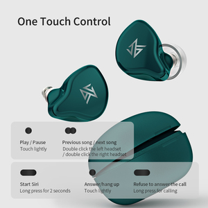 Image 4 - KZ S1 S1D TWS Wireless Bluetooth 5.0 Earphones Touch Control Earbuds Dynamic Hybrid Driver Unit Headset Noise Cancelling E10 ZST