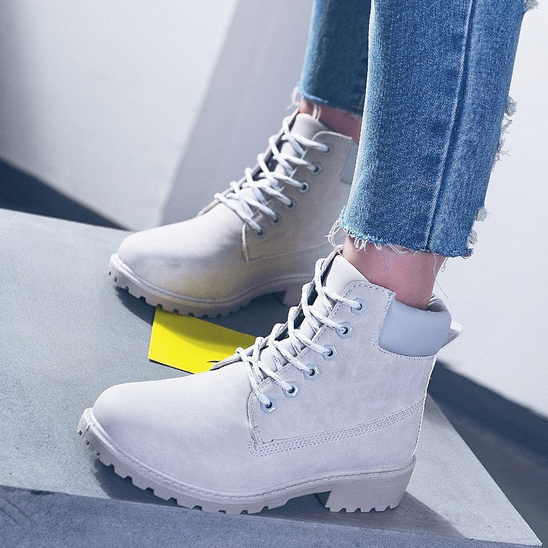 Image 2 - Winter boots women shoes 2019 warm fur plush sneakers women snow boots women lace up ankle boots winter shoes woman botas mujer-in Ankle Boots from Shoes