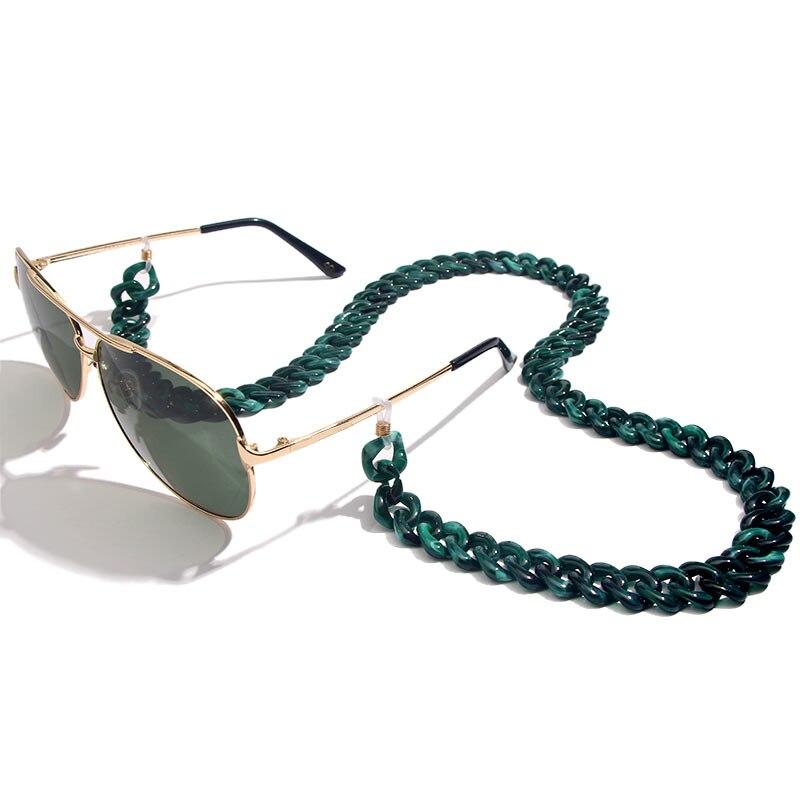 Flatfoosie модная акриловая цепочка для солнцезащитных очков цепочка для очков для чтения подвесной держатель для шеи ремешки с петлей аксессуары для очков 68 см - Цвет: 05GN