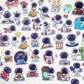 51 шт Супер Симпатичные астронавт космический рисунок, настенные наклейки для детской Водонепроницаемый винил пространство наклейки Explorer ...