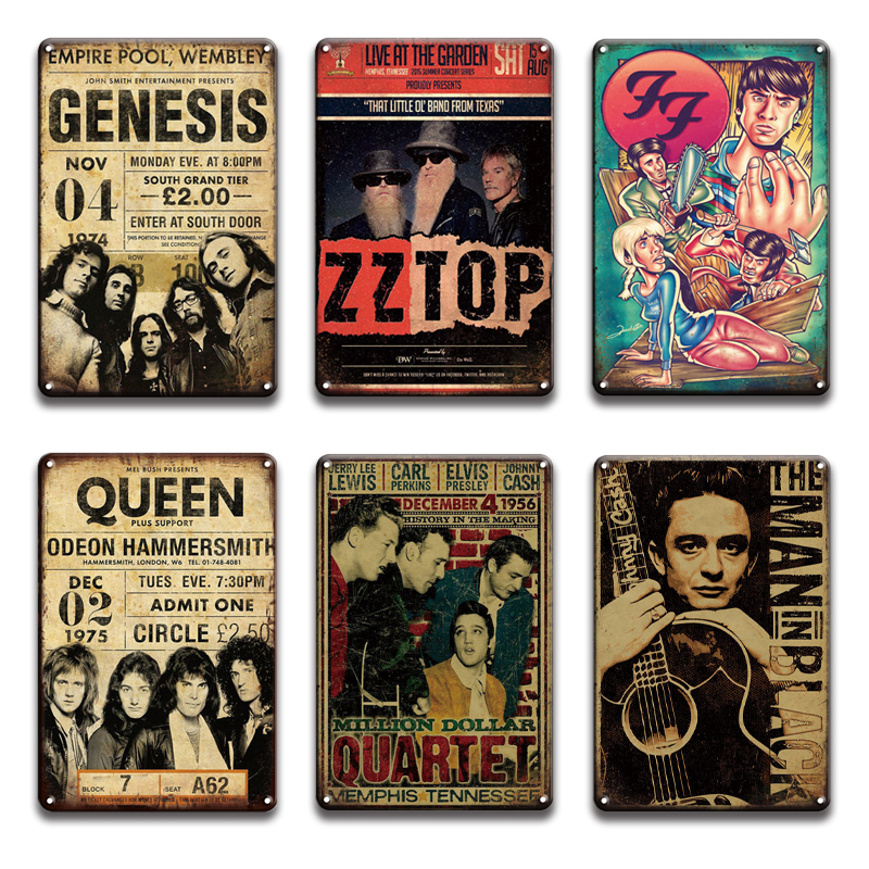 Nirvana foo metal rock n rolo metal poster estanho sinal do vintage johnny cash placa de metal sinais retro pub bar homem caverna decoração da casa