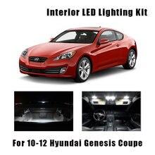 9 żarówki biały LED samochodów mapa światło kopuły wnętrze zestaw pasuje do 2010 2011 2012 Hyundai Genesis Coupe Trunk Glove lampka tablicy rejestracyjnej