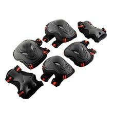 Защитный скейтборд 6x налокотник защита на запястье 6 шт. Экипировка наколенник Велосипедный Спорт Безопасность Велоспорт Спорт