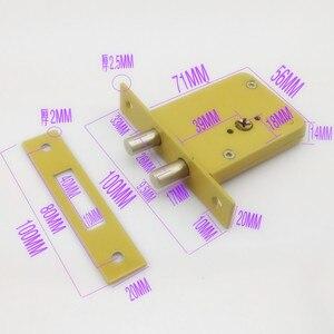 Image 5 - DeadBolt cerraduras invisibles, prevenir bloqueo recoger doble barra Invisible, mortaja, tubewell, seguridad, cerraduras de Mortice