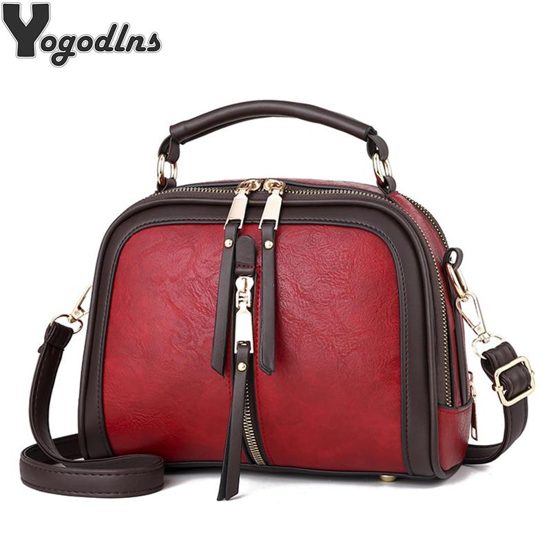 Luxury Handbags Women Bags Designer PU Leather Solid Color Messenger Bag Fashion Shoulder Crossbody Bags Girls Tassen Tote