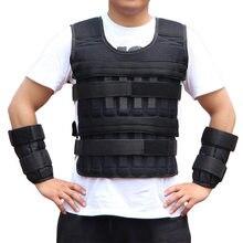 New 15/35KG Adjustable Loading Weight Vest Boxing Training Jacket Gym Fitness Equipment Running Workout Waistcoat Sand Clothing