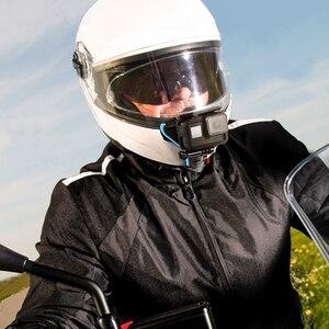 Image 5 - לירות אופנוע קסדת מול סנטר סוגר בעל מתאם הר עבור GoPro גיבור 9 7 8 5 שחור Xiaomi יי 4K Sjcam Eken ללכת פרו 7