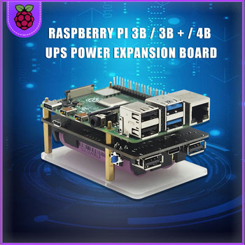 18650  UPS Pro Extended Two USBA Port Power Supply Device For Raspberry Pi 4 B / 3B+ / 3B  Not Include 18650 Battery