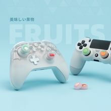 Geekshare Fruit 4 Stuks Siliconen Vreugde Con Thumb Grip Set Joystick Caps Voor Xbox & PS4 & PS5 Cover Analoge thumb Stick Grips