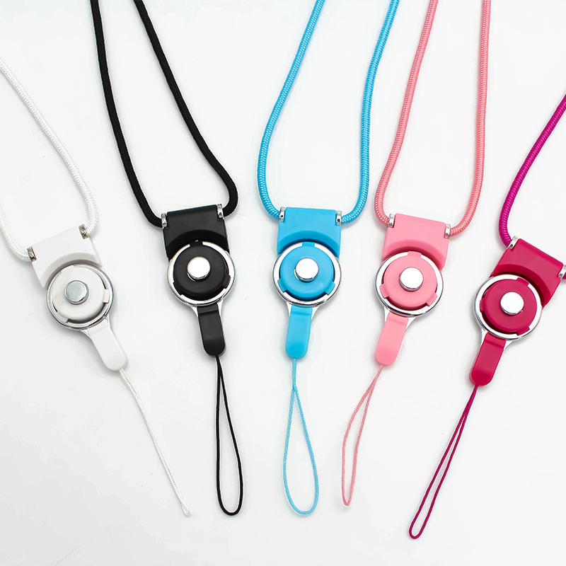 Two-in-One Detachable Split Rotating Fastened Ring Long Hang Rope Mobile Phone Lanyard Creative Halter Mobile Phone Bracket Lany