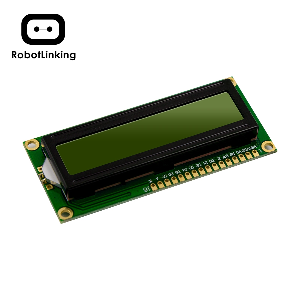 LCD Module Display Monitor 1602 5V Yellow Green Screen And White Code For Arduino UNO 2560 Raspberry PI Board